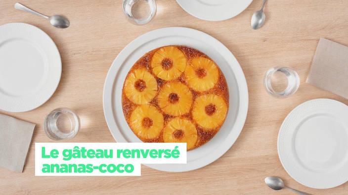 Le gâteau renversé ananas-coco