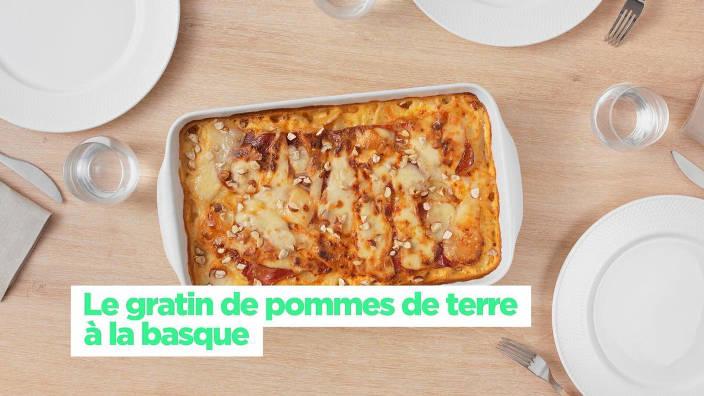 Le gratin de pommes de terre à la basque