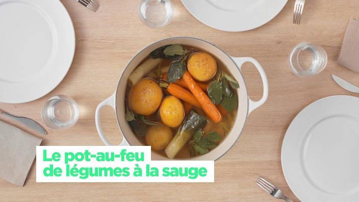 Le pot-au-feu de legumes a la sauge