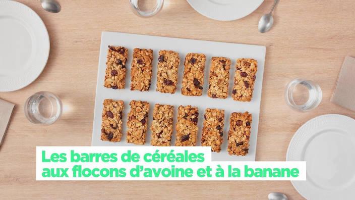 Les barres de cereales aux flocons d'avoine et...
