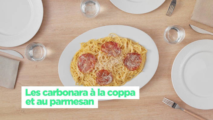 Les carbonara à la coppa et au parmesan