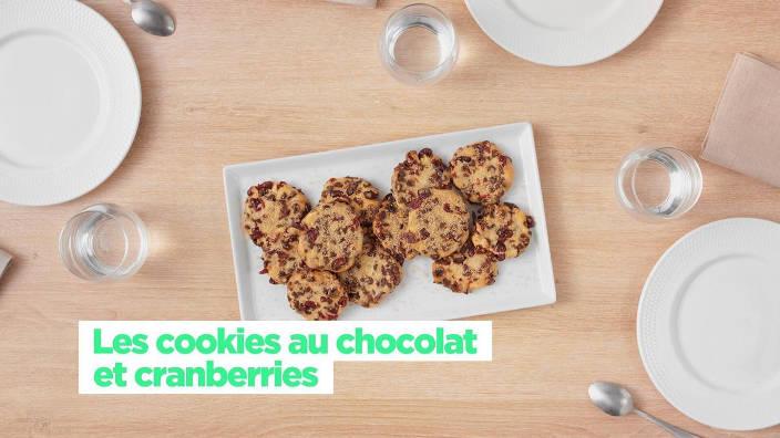 Les cookies au chocolat et cranberries