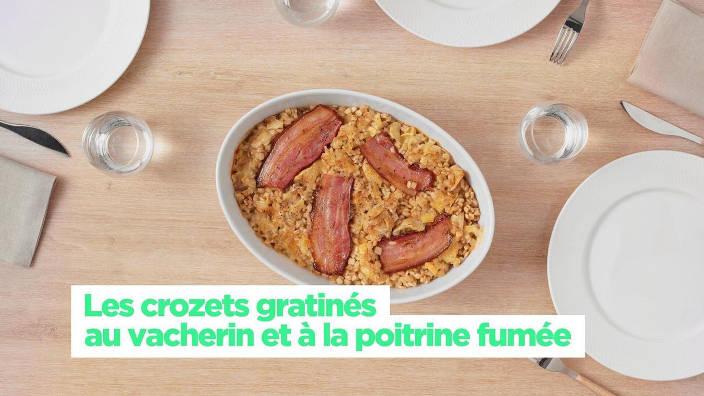 Les crozets gratines au vacherin et a la...