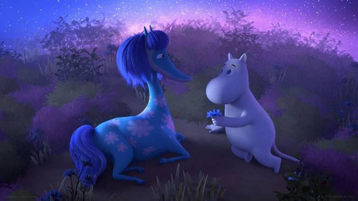 Moomin et les chevaux de mer