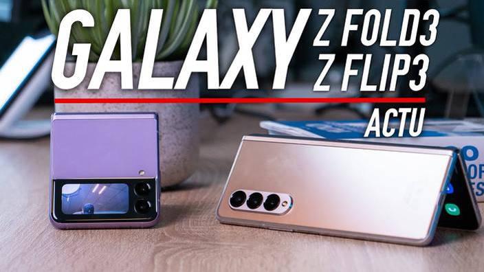 Prise en main des Samsung Galaxy Z Flip3 et Z