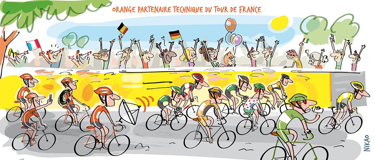 Orange accompagne le Tour de France 2017
