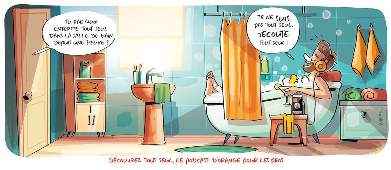 """Découvrez """"Tout seul"""" le podcast d'Orange pour les pros"""
