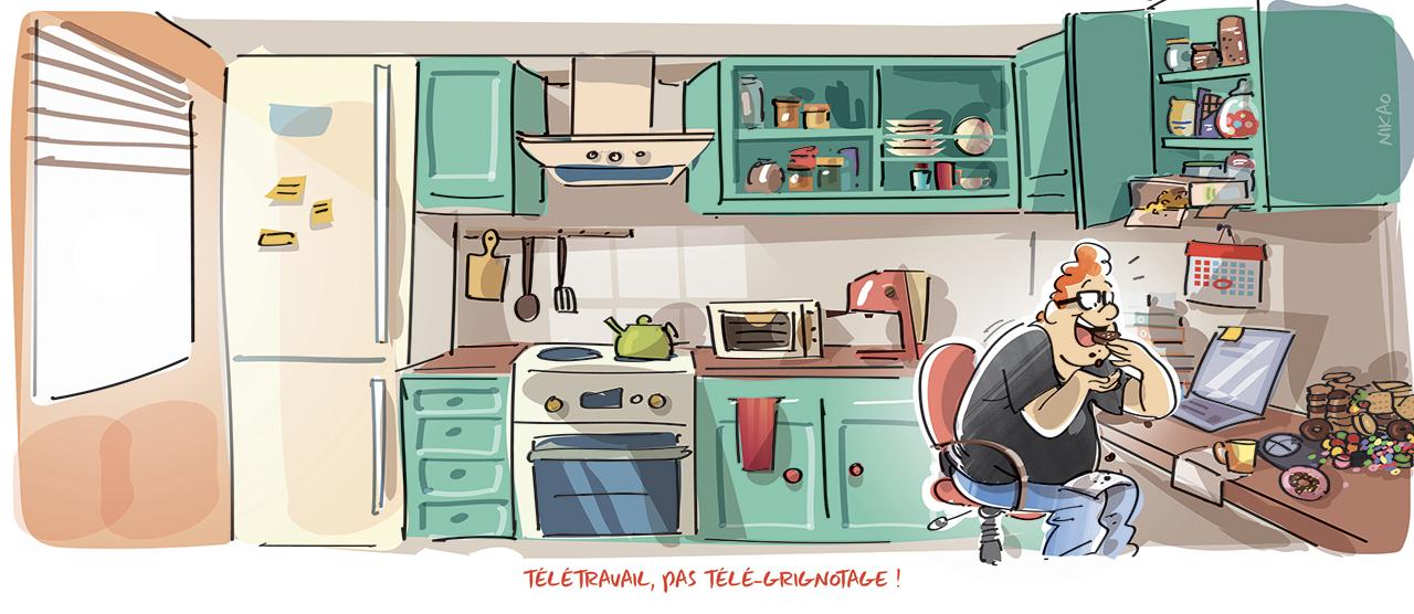 Confinement et grignotages : attention aux pièges du télétravail !