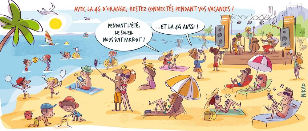 Avec la 4G d'Orange, restez connecté pendant vos vacances !