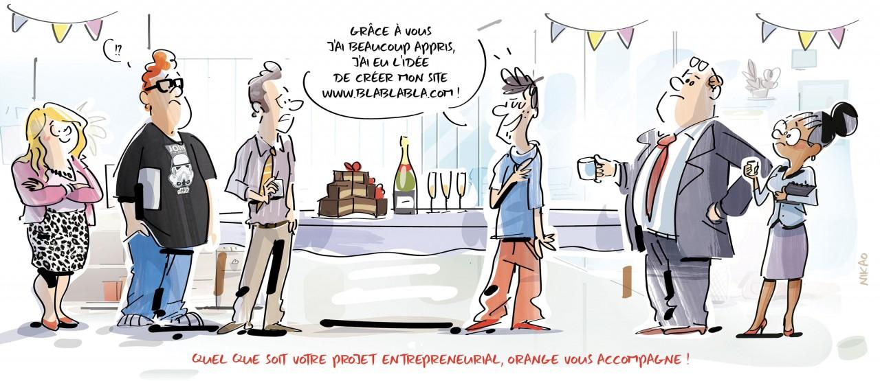 Créateurs d'entreprise : Orange toujours à vos côtés !