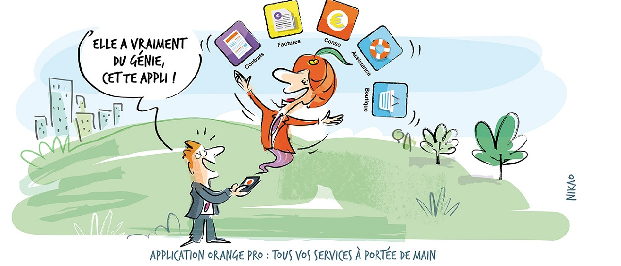 Application Orange Pro : tous vos services à portée de main