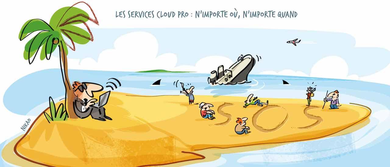 Les services du Cloud : n'importe où, n'importe quand