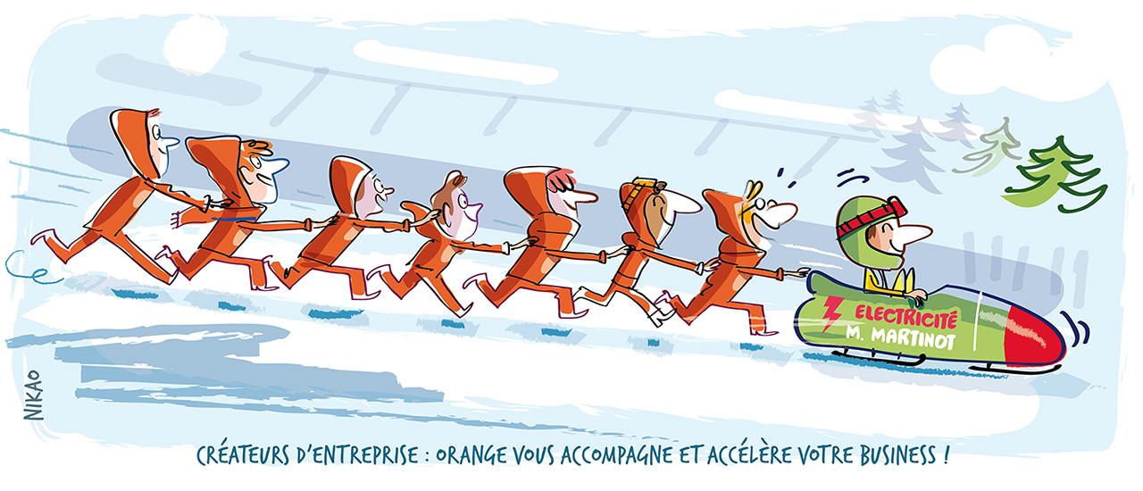 Orange accompagne les créateurs d'entreprise dans leur activité