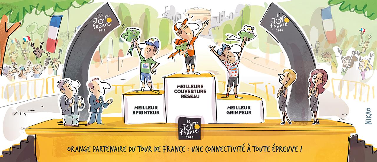 Vivez le Tour de France au plus près des cyclistes avec Orange