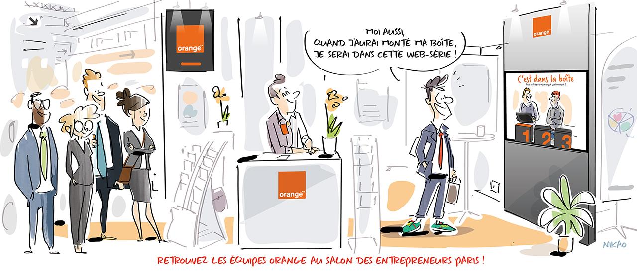 Retrouvez les équipes Orange au Salon des Entrepreneurs Paris