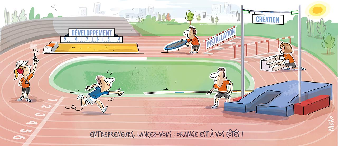 Orange à vos côtés dans toutes les étapes clés de la vie de votre entreprise