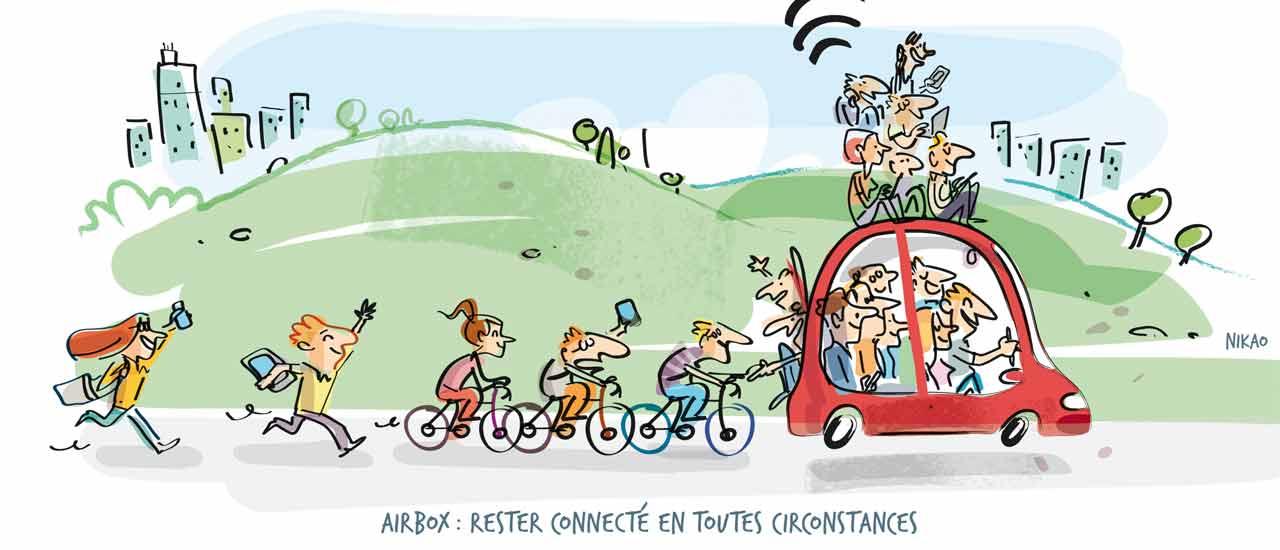 Restez connecté en toutes circonstances avec Airbox